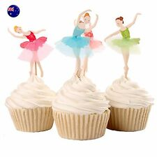 24P Ballet Dance Party Cupcake Cakes Birthday Decorating Topper Picks Flag Set