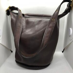 Very Rare !! OLD COACH Vintage Duffle Bag 9085 Leather Nearly Unused Nice !!