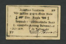GERMAN EAST AFRICA  1 Rupie  1917  BUSH NOTE FP   World Paper Money