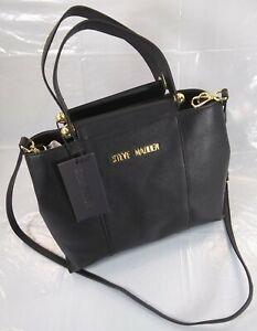 Steve Madden Black BNATELE DT611090 Crossbody Shoulder Bag Faux Leather MSRP $78