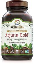 NutriGold Arjuna Gold 500 mg Organic Whole Food 90 Veggie Capsules