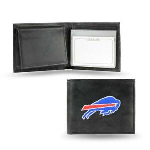 Buffalo Bills Embroidered Leather Billfold [NEW] NFL Trifold Wallet ID Card