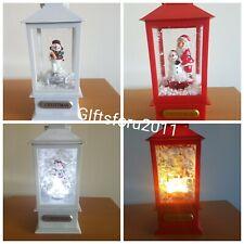 Christmas Lantern With snowing scene Santa/Snowman LED Light Music & Snow Xmas