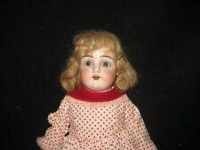 "18 1/2"" Antique German Doll - Bisque/kid - Unmarked Kestner - human hair wig"