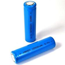 2 rakieta de iones de litio Batería 3,7 V/18650 Li-ion plana pol 65 mm largo azul