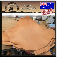 WHISKY Color VEG TANNED Kangaroo leather skin hide for plaiting whip making etc.