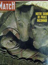 PARIS MATCH N° 1024 CHEFS D'OEUVRE NOTRE DAME DE PARIS NIXON APOLLO IX 1968