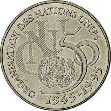 [#650250] Monnaie, France, ONU, 5 Francs, 1995, Paris, SUP, Argent, Gadoury:776