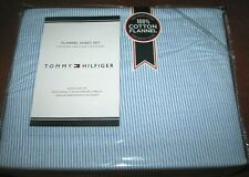 (4) pc Tommy Hilfiger (Queen) Flannel Sheet Set(Ithaca Stripe) flat,fitted,cases