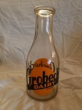 GROBECK DAIRY BOTTLE OMAHA NEBRASKA ACL NICE NICE CONDITION MILK ! RARE ONE!