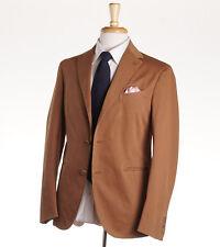 NWT $1530 BOGLIOLI Dark Camel Tan Stretch Twill Cotton Suit 38 R (Eu 48)