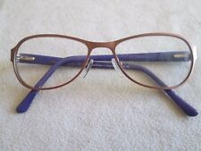 Cross eyes purple / pink glasses frames. B48. With case.
