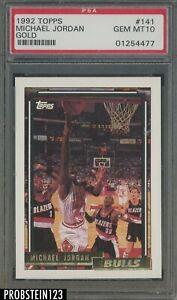 1992-93 Topps Gold #141 Michael Jordan Chicago Bulls HOF PSA 10 GEM MINT