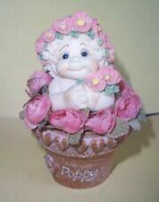 """Dreamsicles Garden Angel - Poppy in Mini Flowerpot w/Pink Rose Detail, 3 5/8"""""""
