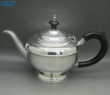 ART DECO NICE QUALITY SOLID STERLING SILVER TEAPOT 255g T.C BIRMINGHAM 1932