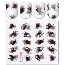 Halloween Spider Water Decal Transfer Stickers Decoration DIY Manicure