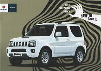 Suzuki Jimny 1.3 Manual & Automatic SZ3 SZ4 UK Market Brochure 2013 20 Pages