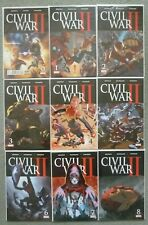 CIVIL WAR II #0, #1-8 SET..BENDIS/MARQUEZ..MARVEL 2016 1ST PRINT..VFN+