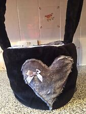 PET CARRIER DOG CHIHUAHUA YORKIE PUPPY LUXURY FAUX FUR SNUGGLE SACK BAG