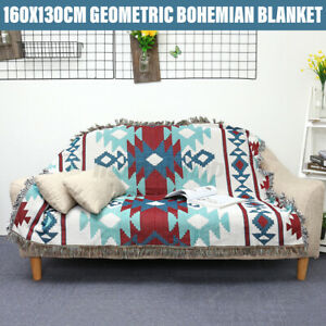Bohemian Geometric Throw Blanket Aztec Navajo Sofa Cover Chair Sofa Bed Rugs Mat
