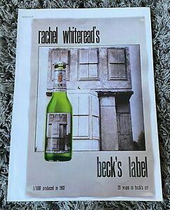 Rare Vintage 2000's Magazine Advert Ad Picture Becks Beer Rachel Whiteread Ad