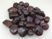 One (1) Medium Tumbled Ruby Passion for Life Crystal Healing Info Card&Bag