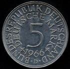 GERMANY FEDERAL REPUBLIC 5 Mark AG 1966 D