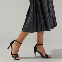 Kurt Geiger Black Stiletto Strappy Sandals Size UK 8 EU 41 Miss KG Party Heels