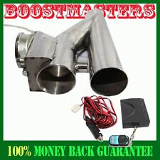 "For Universal DIY 2.5"" Piping Stainless Steel Electric Exhaust Cutout Y-Pipe"