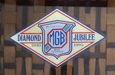 Vintage INSIDE Sticker - MG Car Club - MGB Register Diamond Jubilee - 1930 1990