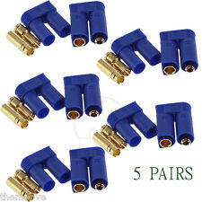 5 Pair EC5 Banana Plug Female Male Bullet Gold Connector For RC ESC LIPO Battery