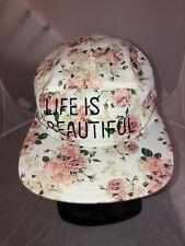 Life is Beautiful Festival Las Vegas Women's Ladies Floral Adjustable Hat
