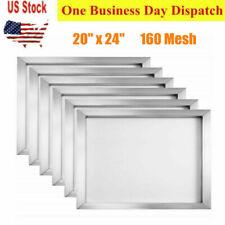 6 Pack 160 Mesh Aluminum Silk Screen Printing Frames 20 X 24 Inch