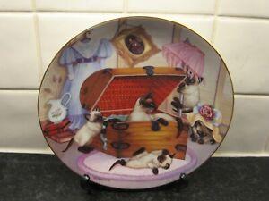 COUNTRY KITTENS CAT  PLATE -  ATTIC ATTACK   -  HAMILTON