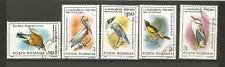 1985 oiseaux Roumanie 5 timbres anciens oblitérés /T4332