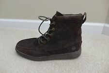 Hey Dude Men's Tucker Chocolate Brown Suede Hi Top Lace-Up Ankle Boots Size 9.5