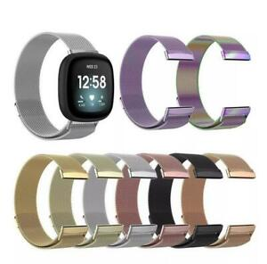 Magnetic Belt Adjustable Metal Band Watch Replacement Strap for Fitbit Versa 1 2
