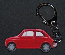 Porte-clés photo d'une FIAT 500 ROUGE