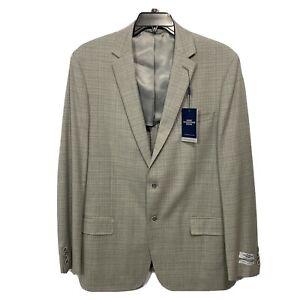 $495 Hart Schaffner Marx 10 Pocket Sport Coat 44L 44 Blazer Jacket Grey NY Fit