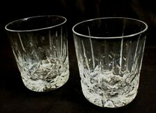 Pair of Signed Royal Brierley Double Old Fashioned Cut Crystal Whiskey Glasses