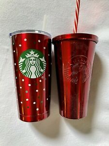 New Starbucks Christmas Collection 24oz Tumblers New (Two Piece Set)