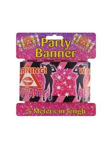 WARNING HEN PARTY TAPE HEN NIGHT PARTY DECORATIONS HEN PARTY BANNERS