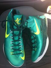 Nike Air KD Mens Basketball Shoes Size 13 Green White Neon Kevin Durant 35