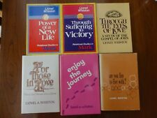6 Christian Books Lionel Whiston- Mark, John, In Love, Journey, Fun to Live With