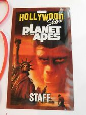 Limited Edition Hollywood Show Planet Of The Apes Staff Pass w/lanyard