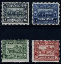 ERITREA ITALY COLONY SCOTT# 47-49, 50b SAS# 34, 35a, 36-7 MINT HINGED AS SHOWN