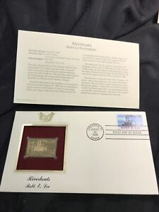FIRST DAY Of Issue ROBERT E. LEE 1996 Riverboats Classic collection GOLD STAMP
