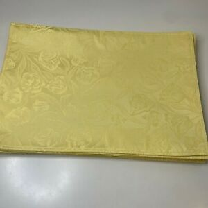 placemat set 12 rectangle yellow tulips floral 18x12 classic traditional