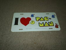 Vintage 1982 I LOVE Pac-Man Video Game PLASTIC CAR  License Plate