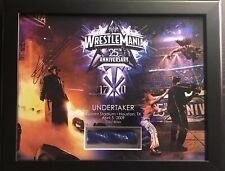 Undertaker Signed 2009 Wrestlemania 25 WWE WWF Plaque 26/500 Ring Rope